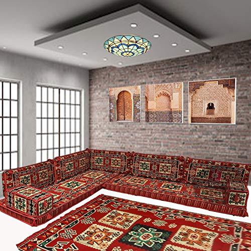 Cojines de suelo para sofá esquinero majlis asientos bohemios muebles bancos / SHI_C237
