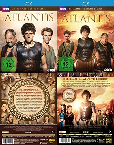 Atlantis - komplette Staffel 1 & 2 der BBC TV-Serie 6 Blu-Ray Edition