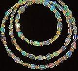 1filo naturale opale etiope super qualità 4a 5mm Sasso grandi & 5a 8mm di lunghezza e 3mm rondelle perlina collana lunga 45,7cm