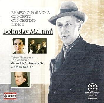 Martinu, B.: Concertino for Piano Trio and String Orchestra, H. 231 and 232 / Rhapsody-Concerto / Memorial To Lidice