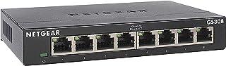 NETGEAR 8-poorts Gigabit Ethernet Unmanaged Switch (GS308) - Home Network Hub, Ethernet-splitter voor in kantoren, plug-an...