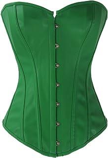 feeeb66435e Y Fashion Womens Sexy Steampunk Gothic Faux Leather Boned Corset Bustier