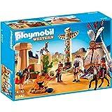 PLAYMOBIL - Campamento Indio con tótem, Set de Juego (5247)