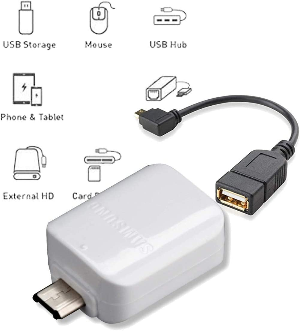 Samsung OTG Micro - USB to USB Adapter for for Android Devices Galaxy S2,S3,S4,S5,S6,S7,Edge,+,Note 4,Note 5,Active,Nexus,Keyboard,Mouse,SD Card,Hard Drive