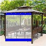 AWSAD Lona Impermeable Transparente Exterior Cortinas de Gazebo 0,5mm PVC Cortina Lluvia Cortina Lona Balcon Impermeable con Ojal for Jardín, Pérgola, Terraza (Color : Blue, Size : 1x1.8m)