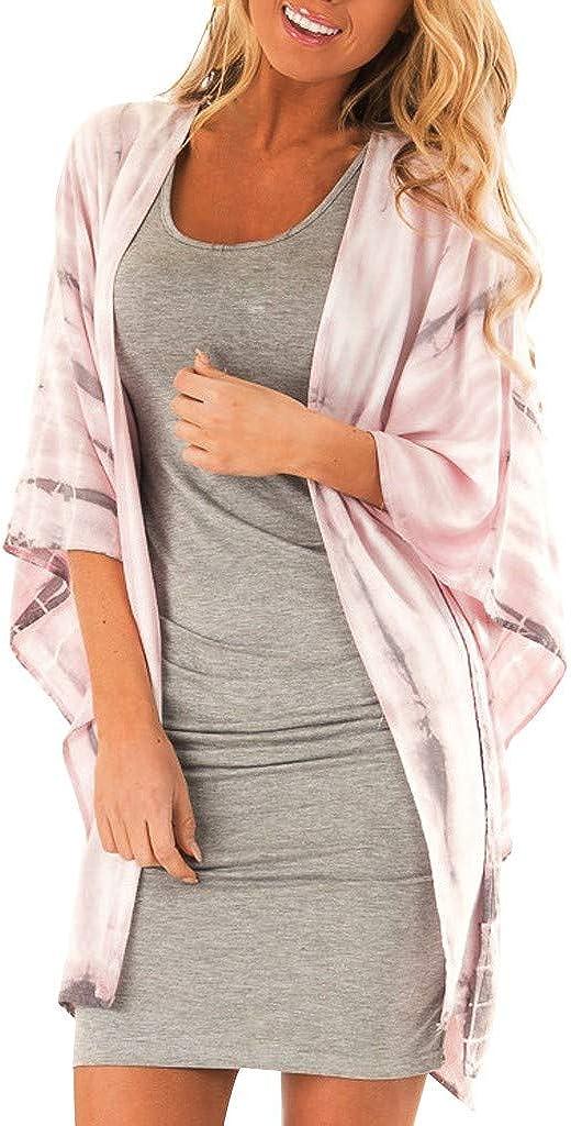 Womens Fashion Sexy Short Sleeve Leisure Leopard Print Kimono Long Cardigan