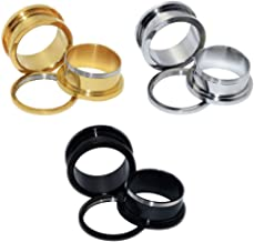 6pcs Stainless Steel Screw Tunnels Ear Plugs Stretcher Expander Body Piercing12g-3/4