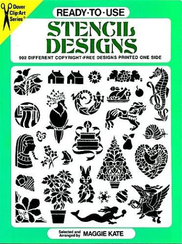 Ready-To-Use Stencil Designs: 902 Different Copyright-Free Designs Printed One Side (Clip Art Series)