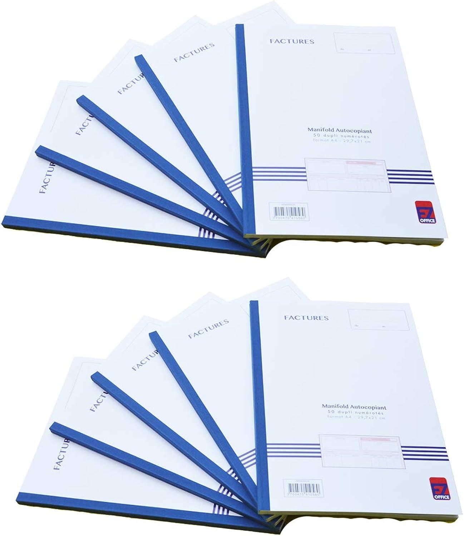 EZ Office – Manifold Factures selbstdurchschreibend bedruckt A4 A4 A4 210 x 297 mm   21 x 29,7 cm Foliotage 50 Blatt selbstdurchschreibend B07HHD1PSY | Meistverkaufte weltweit  276228