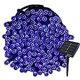 Tuokay 22M Guirnalda de Luces de Energía Solar 8 Modos 200 LED Cadena de Luces Impermeables para Decorar Patio, Jardín, Terraza, Boda, Fiesta, Navidad (Azul)