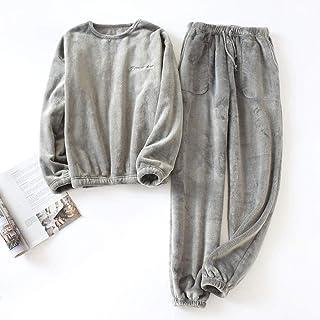 Pijama Hombre Invierno Conjuntos De Pijamas De Franela Gruesos De Invierno para Hombre Pijamas De Manga Larga para Hombre Pijama De Talla Grande Ropa De Dormir Pijama Informal para Hombre