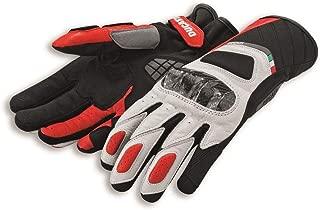 Ducati Sport C3 Gauntlent Style Glove by Spidi Black & White Large