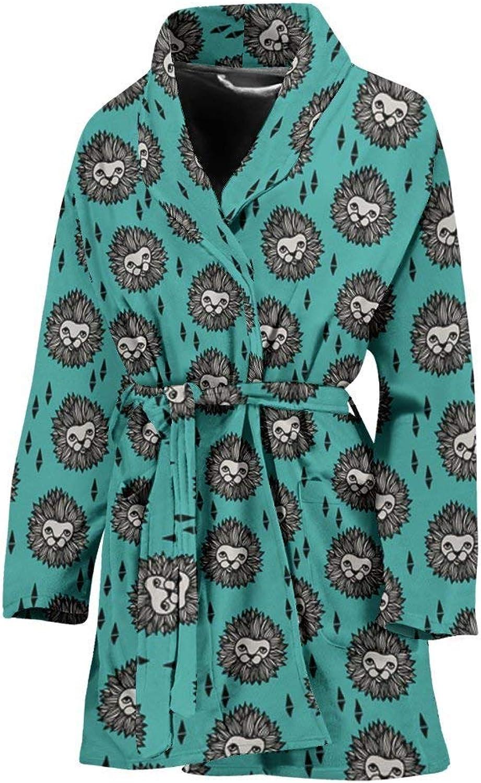 Amazing Lion Pattern Print Women's Bath Robe