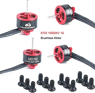 Makerfire 4pcs 0703 FPV Racing Brushless Motor for 60 80 100 Mini Quadcopter Racing Drone