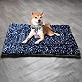 YORKING Large Dog Bed Warm Plush Cushion Sleep Mat for Kennel Crate XL for Large Medium Small Dogs and Cats Blue Bones