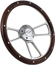 Chrome Steering Wheel Kit for Hot Rod Rat Rod w/Flaming River, Ididit, GM Column