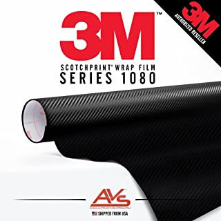 3M Di-Noc Carbon Fiber Matte Black Vinyl Car Wrap Film Sheet Roll - CA421-1ft x 4ft (4 sq/ft) (12