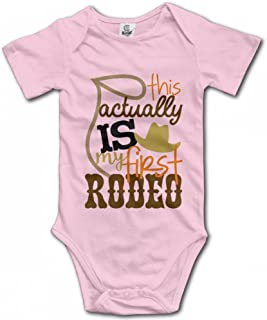 My First Rodeo Baby Girls Bodysuit Funny Onesies Comfortable Rompers Pajamas