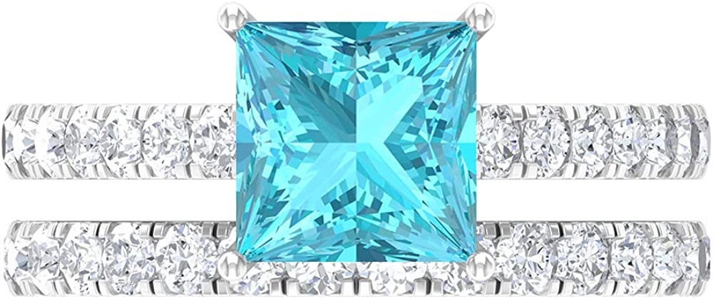 7 MM Princess Cut Fees free Swiss Blue D-VSSI Topaz Moissanite Max 59% OFF Ring