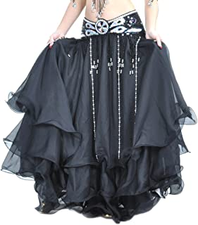 Danzcue 3 层雪纺肚皮舞裙(不含腰带)