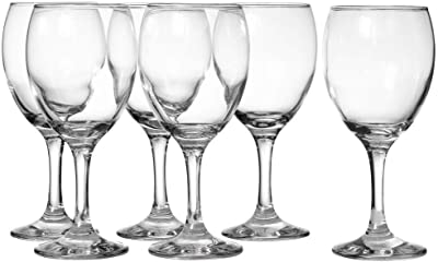 LAV 8.25 Ounce White Wine Glasses   Empire Collection – Thick and Durable – Dishwasher Safe – Perfect for Parties, Weddings, and Everyday – Great Gift Idea – Set of 6 Small White Wine Glasses