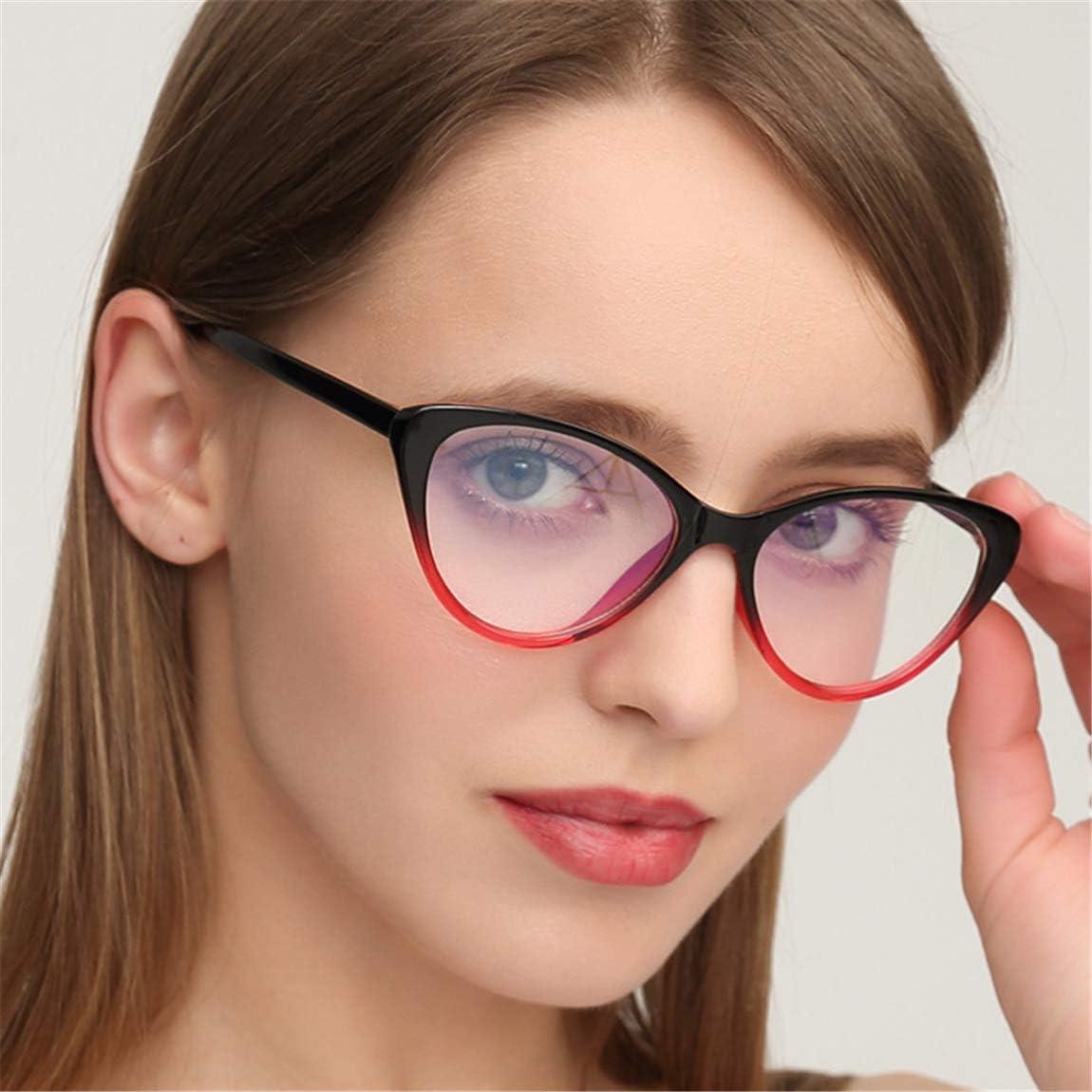 Mode Retro Dekobrille,Brillenfassung Klare Linse Cat Eye Brille f/ür Damen Herren GIFIORE Katzenaugen Brille Ohne St/ärke