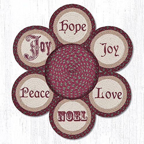 "Earth Rugs 56-535C Set of Trivets, 10""x10"", Multicolor"