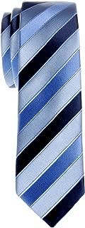 Retreez Three-Colour Stripe Woven Microfiber Skinny Tie Necktie - Various Colors