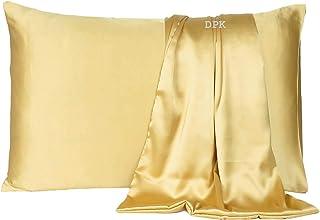 DPK Satin 600 TC Pillow Cover, Silky Soft Satin Pillow Cover/case Comfortable Silky for Home Decor, Hair, Skin Standard Pi...