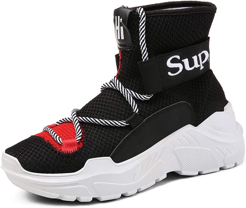 Män's flygande Woven Woven Woven Elastisk Socks Skor Andningsbara högklassiga skor -maskor Shock absorbers Casual skor Springaa ny  rimligt pris