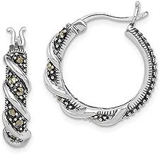 Best sterling silver marcasite hoop earrings Reviews