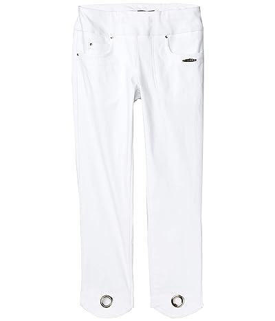 Jamie Sadock Skinnylicious Mid-Capris Pants with Control Top Panel (Sugar White) Women