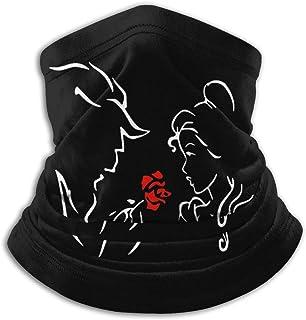 Lsjuee Beauty The Beast Love Unisex Bandane Sciarpa Fascia Passamontagna Antivento Antipolvere Copricapo Ghette per il col...