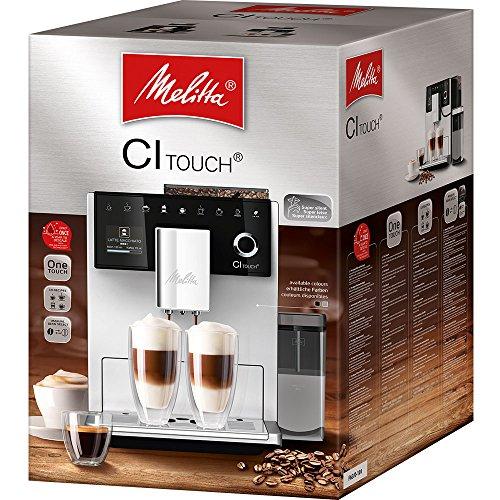 Melitta Caffeo CI Touch F630-101 Kaffeevollautomat mit Milchsystem I Flüsterleises Mahlwerk I Touch Funktion I 1,8l Wassertank I silber - 6