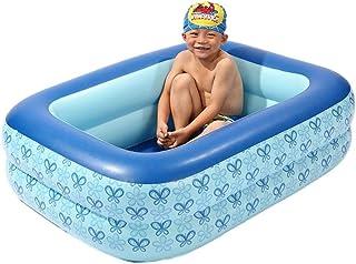 farmer-W Piscina Inflable Pool Piscina Rectangular para Ninos Piscina Hinchable Cuadrada con Asientos Piscina Infantil para Salpicaduras de Agua en Verano 1108535cm