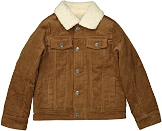 La Redoute Collections Boys Velour Jacket With Sherpa Collar, 3-12 Years