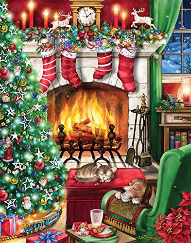 Accogliente calendario dell'Avvento di Natale (conto alla rovescia per Natale)