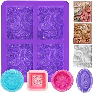 FineGood Lot de 5 moules à savon en silicone rectangulaires 4 cavités pour la fabrication de savon
