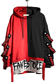Hello MrLin Men's Hip Hop Hoodie Japanese Harajuku Streetwear Techwear Urban Pullover