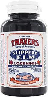 Thayers Slippery Elm Lozenges, Tangerine, 150 Count