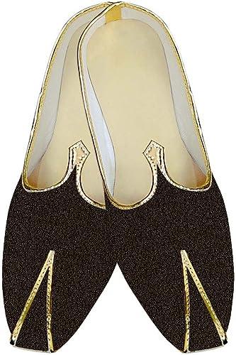 INMONARCH Herren Braun Hochzeit Schuhe Selbst Design Muster MJ10170