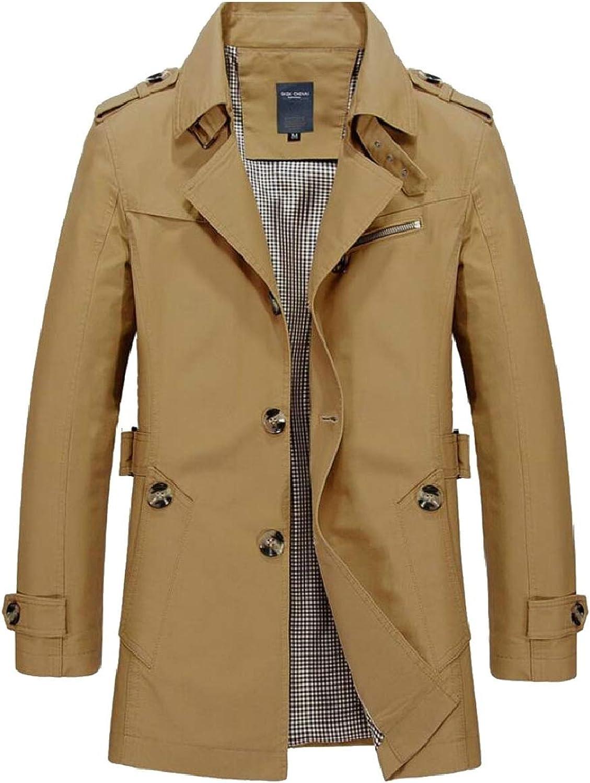 - jxfd Men's Long Sleeve Coat Coat Coat Business Down Jacket Windbreaker fdd846