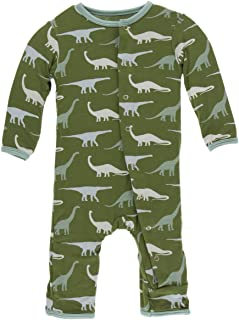 Kickee Pants Baby Boys' Print Coverall - Green - 9-12 Months