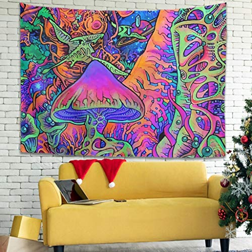 Rcerirt Kompliziert Tapisserie Tagesdecke Picknickdecke mit Wandkunst für Wohnzimmer Schlafzimmer White 100x150cm