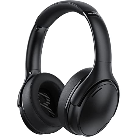 Noise Cancelling Headphones Wireless V5.0 Headset, Foldable Comfortable Fit, HiFi Deep Bass, 35H Playtime, Memory Foam Ear Cups, Wired/Wireless Headphones Over Ear for Travel, Home Office