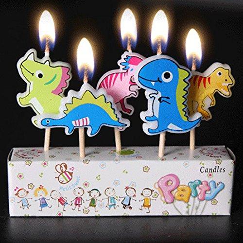 Birthday Candles Kids Child Boys Girls Cute Cartoon Animals Novel Candles Cake Cupcake Candles-dinosaur