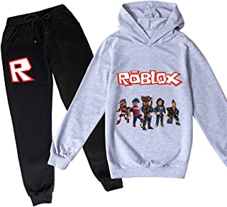 ZKDT Roblox - Sudadera con capucha clásica y cómoda para niños y niñas de 3 a 14 (estilo 5,140)