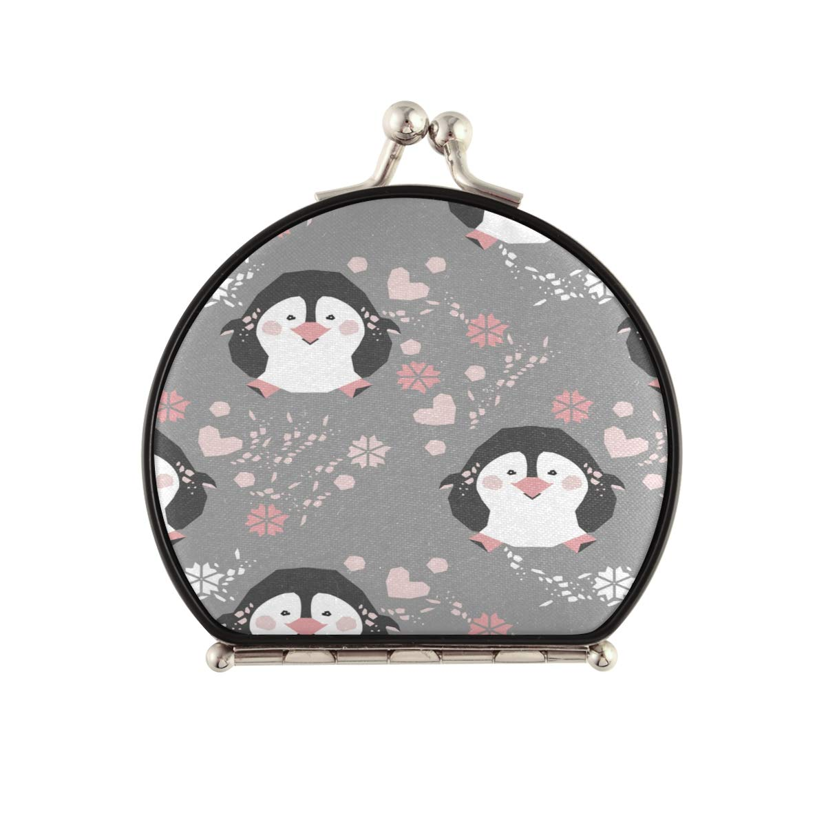 Magnifying Compact Cosmetic Mirror Surprise Colorado Springs Mall price Pattern Penguins Image Winter