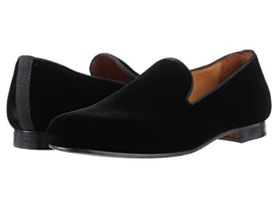 Massimo Matteo Velvet Loafer (Black Velvet) Men