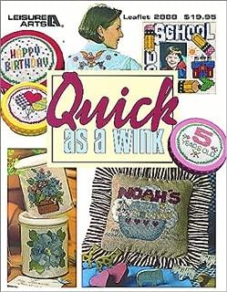 Quick As A Wink Cross Stitch  (Leisure Arts #2888)
